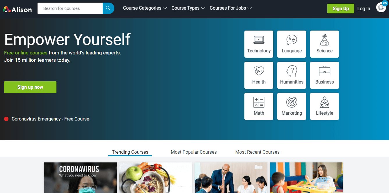 alison online leraning free course